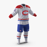3d model of hockey clothes montreal canadiens