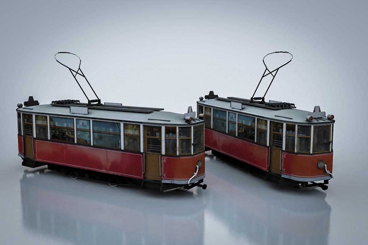 3d old tramway mc-1 model