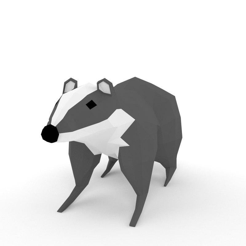 3d model badger