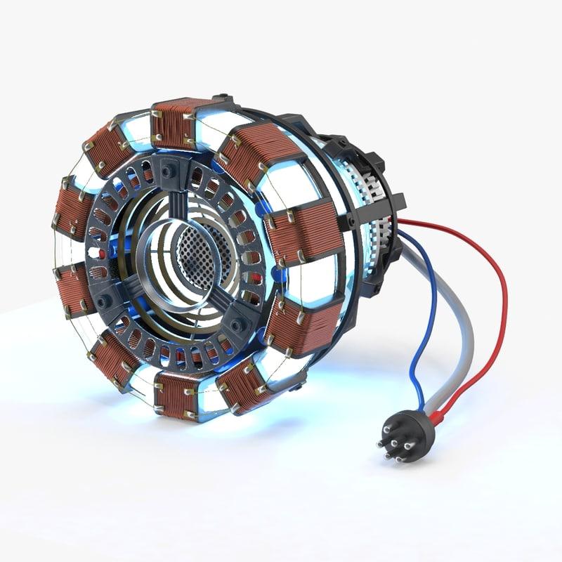 3d model arc reactor