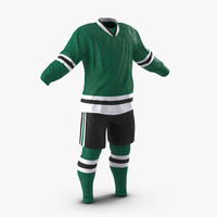 Hockey Clothes Generic 3D Model