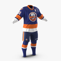 3d model hockey clothes islanders