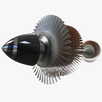 3d model engine turbine
