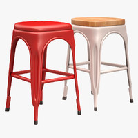 3d model of tolix chair bar