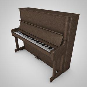 3d model upright piano