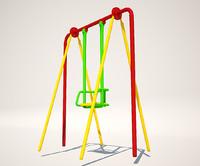 swing playground 3d model