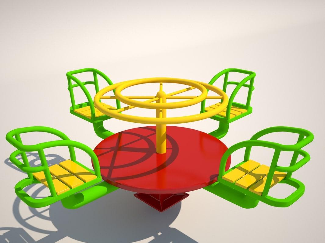 3d carousel playground