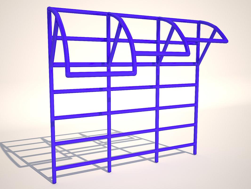 3d horizontal bar model