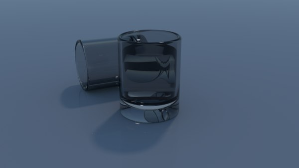 3d shot glass model