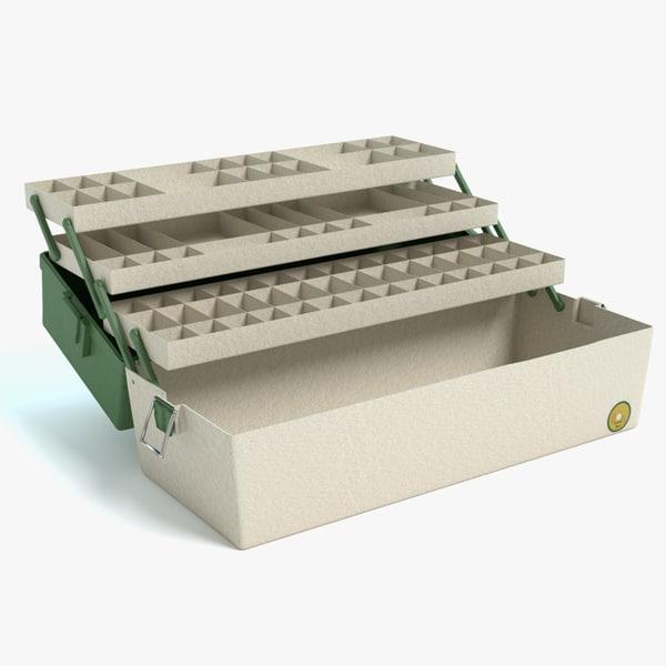 3d model open tackle box