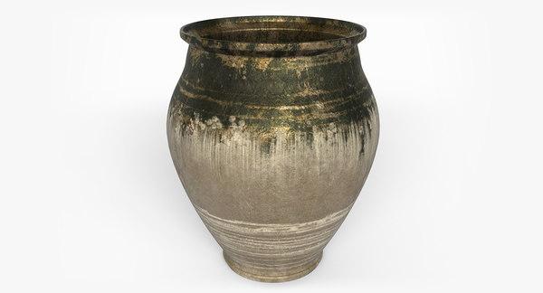3d model of pottery pot