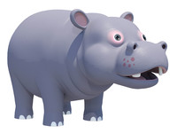 max cute hippopotamus animations