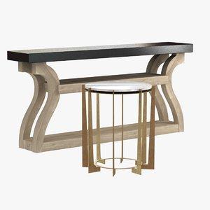 3d model table leonard regency antique