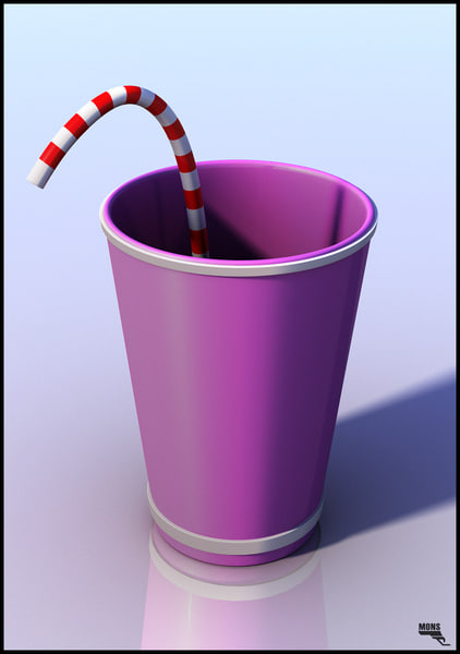cup cartoon drink obj free