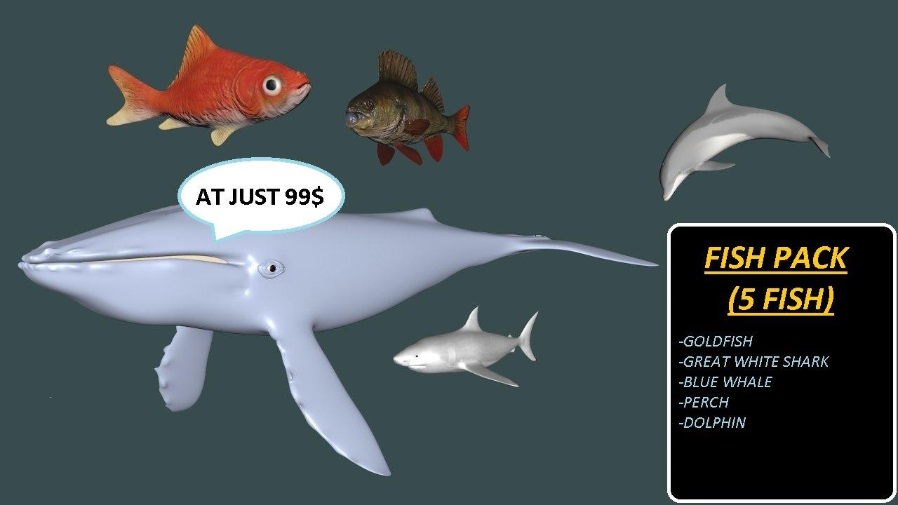 obj fish pack shark