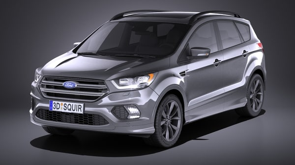 kuga 2017 3d model
