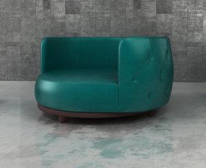 occesional chair 3d x