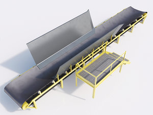 3d mining conveyor belt coal model