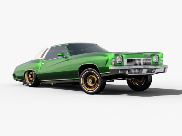 chevrolet monte carlo rigged 3d model