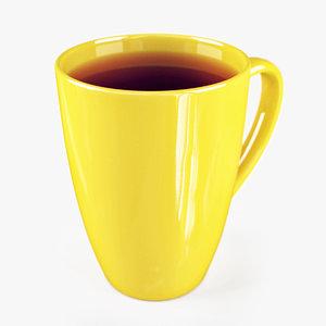 3d model lipton cup tea