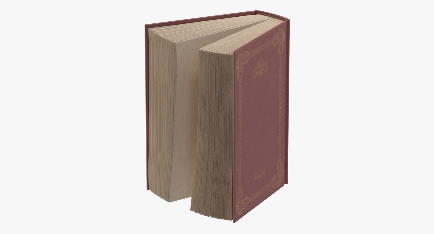 3d model classic book 05 standing