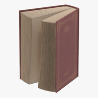 3d model classic book 05 standing