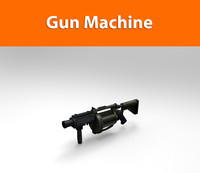 3d machine gun model