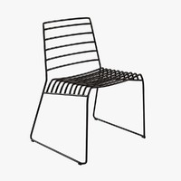 chair b-line park metal 3d model