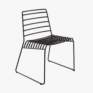 chair b-line park metal 3d model