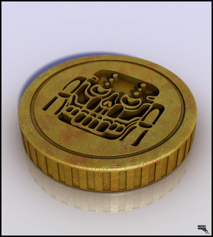 coin money gold 3d max