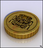 coin money gold 3d max