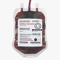 realistic blood bag 3d model