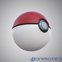 3d model realistic pokeball