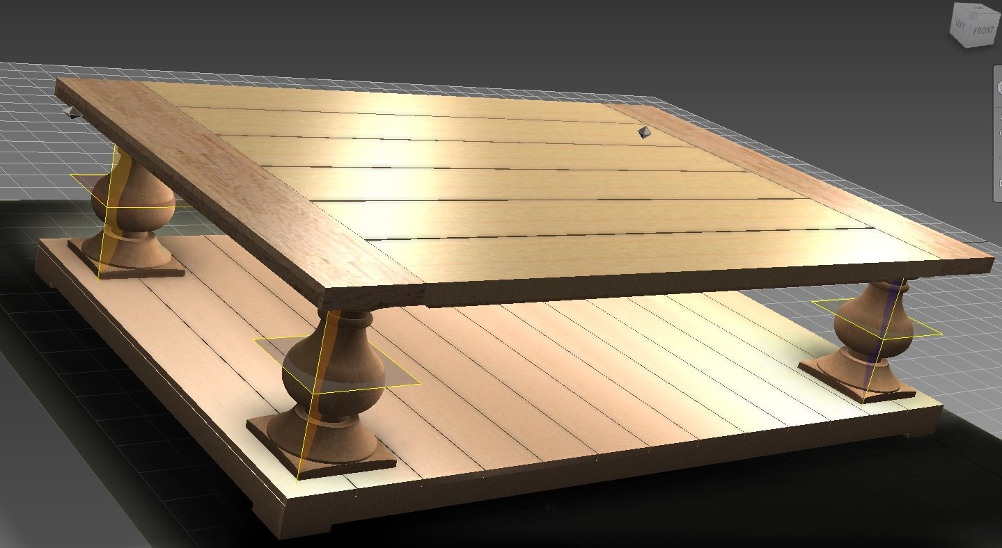 coffee table 3d ige