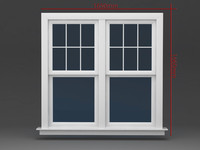 Window Double hung two operating
