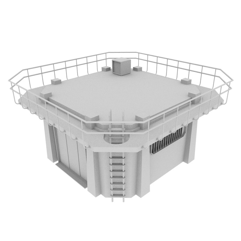 3d blender small colony building model