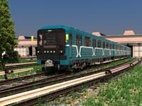3d russian subway train 81-717