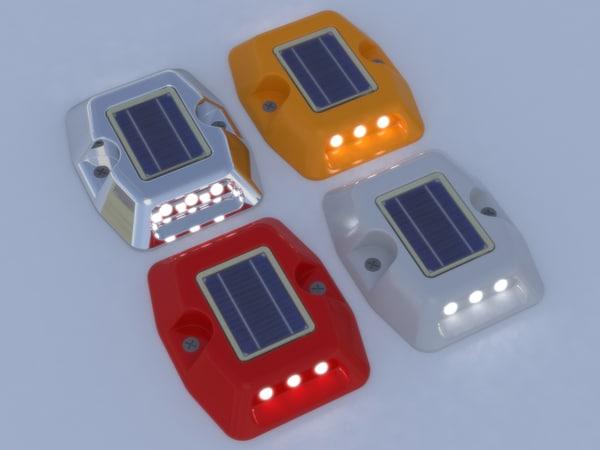 3d model solar road stud street light