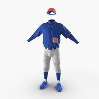 3d baseball player outfit generic model