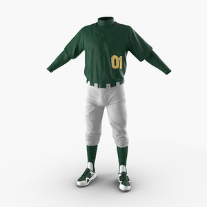 baseball player outfit generic 3d model