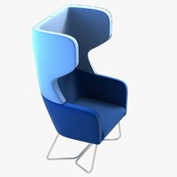 3d model harc tub chair