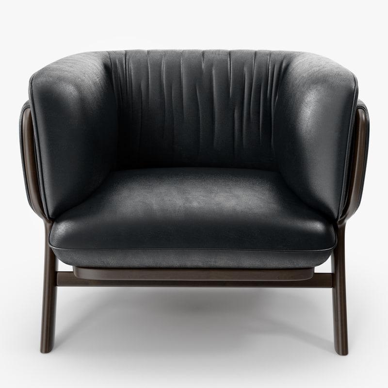 De La Espada - Nichetto 102S Stanley armchair & 3d la espada - nichetto model