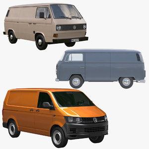 transporter t3 t2 van 3d model