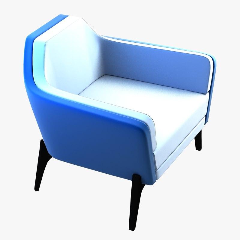 3d harc lounge chair model
