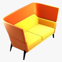 3d model harc sofa chair