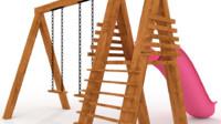 3d model of slide swings