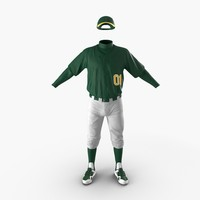 Baseball Player Outfit Generic 2 3D Model