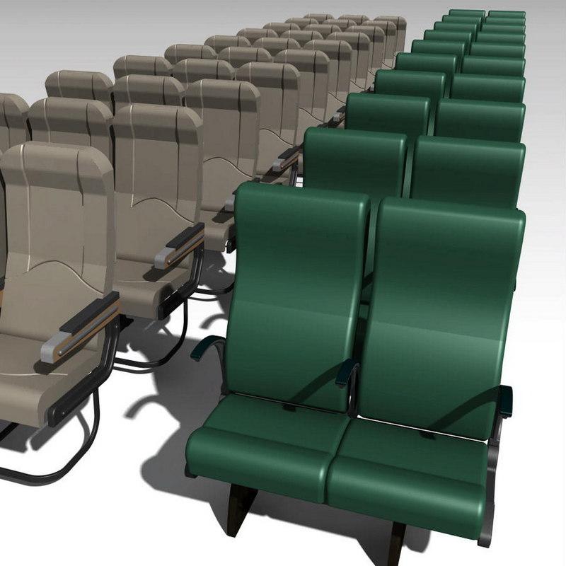 passenger seat 3d model