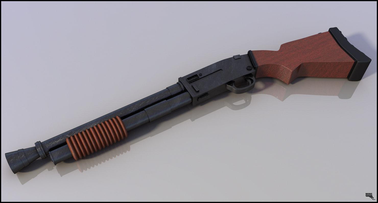 gun shotgun 3d model