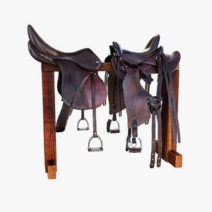 horse saddle 3d model